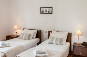 Twin with two single beds - Sea View, Golden Beach hotel: Larissa hotels Agiokampos rooms beach